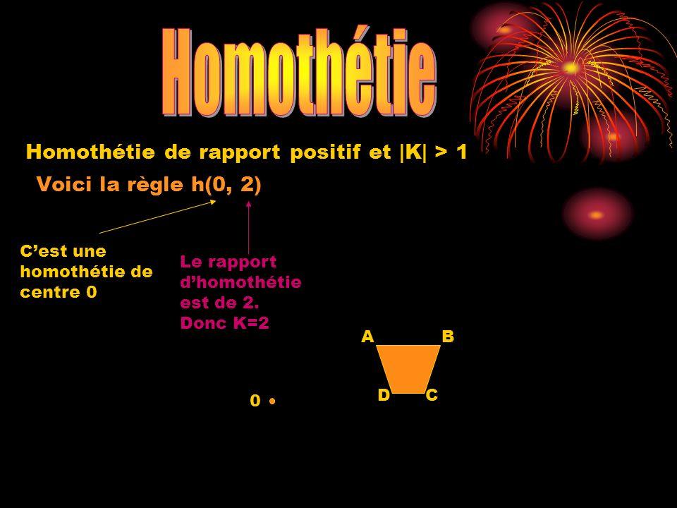 Homothétie Homothétie de rapport positif et |K| > 1