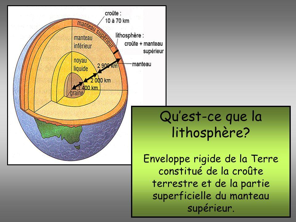 Qu'est-ce que la lithosphère