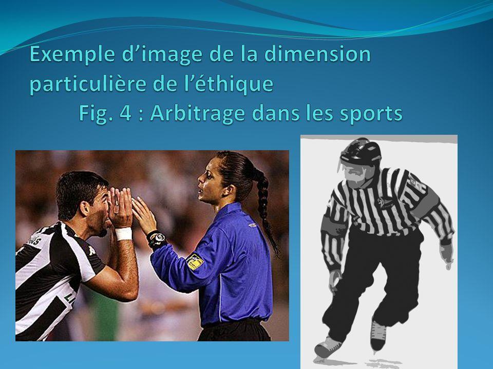 Exemple d'image de la dimension particulière de l'éthique. Fig