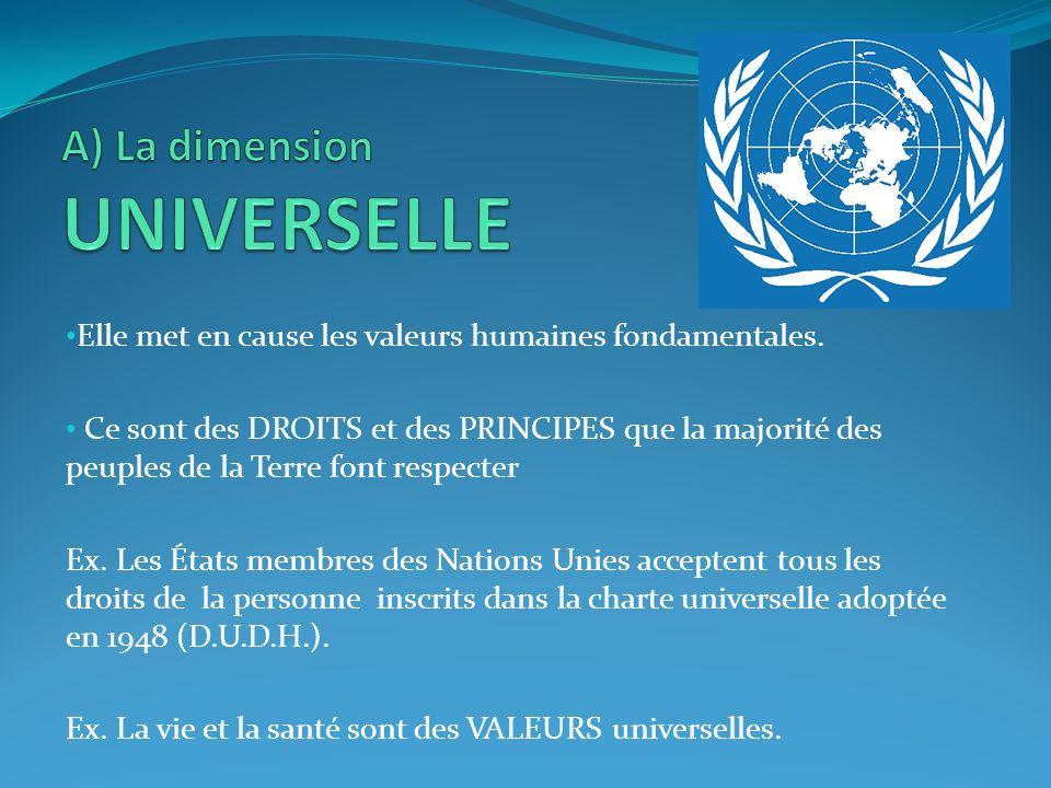 A) La dimension UNIVERSELLE