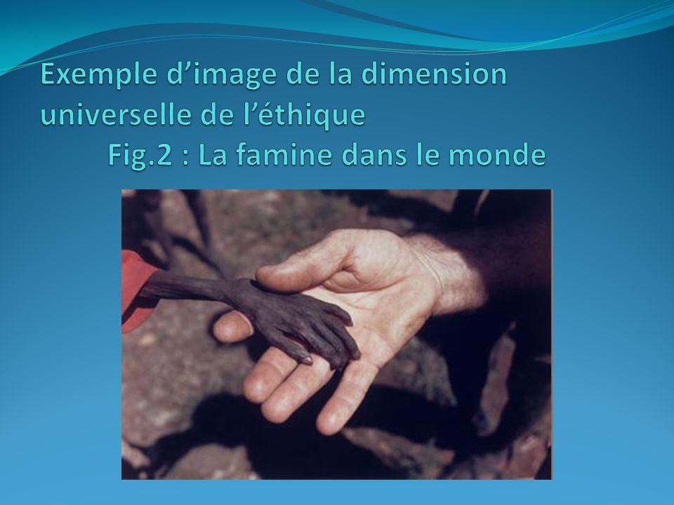 Exemple d'image de la dimension universelle de l'éthique. Fig