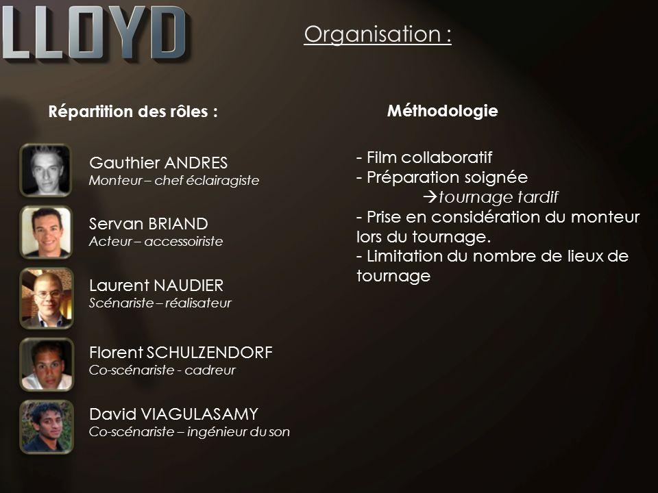 Organisation : Répartition des rôles : Méthodologie Film collaboratif