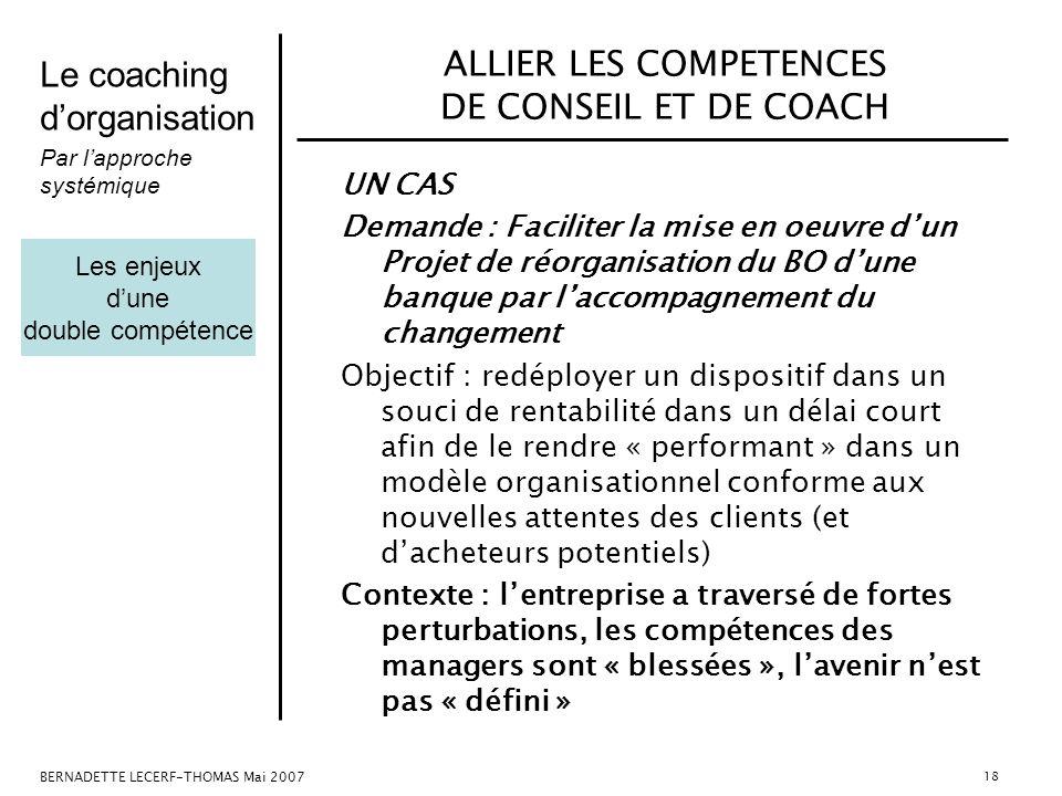 ALLIER LES COMPETENCES DE CONSEIL ET DE COACH