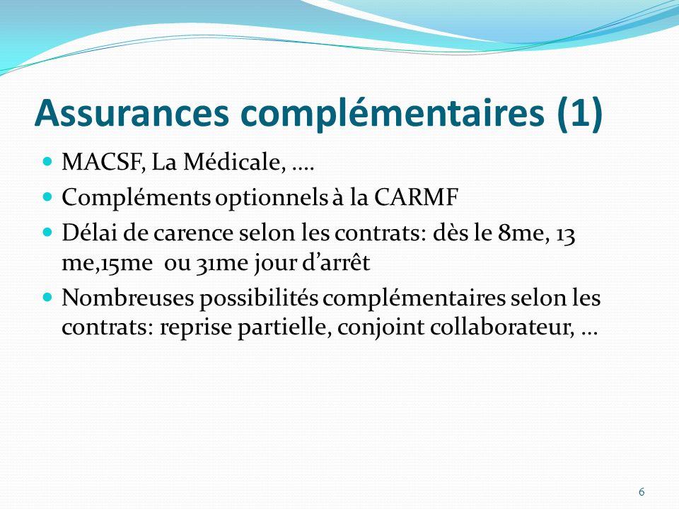 Assurances complémentaires (1)