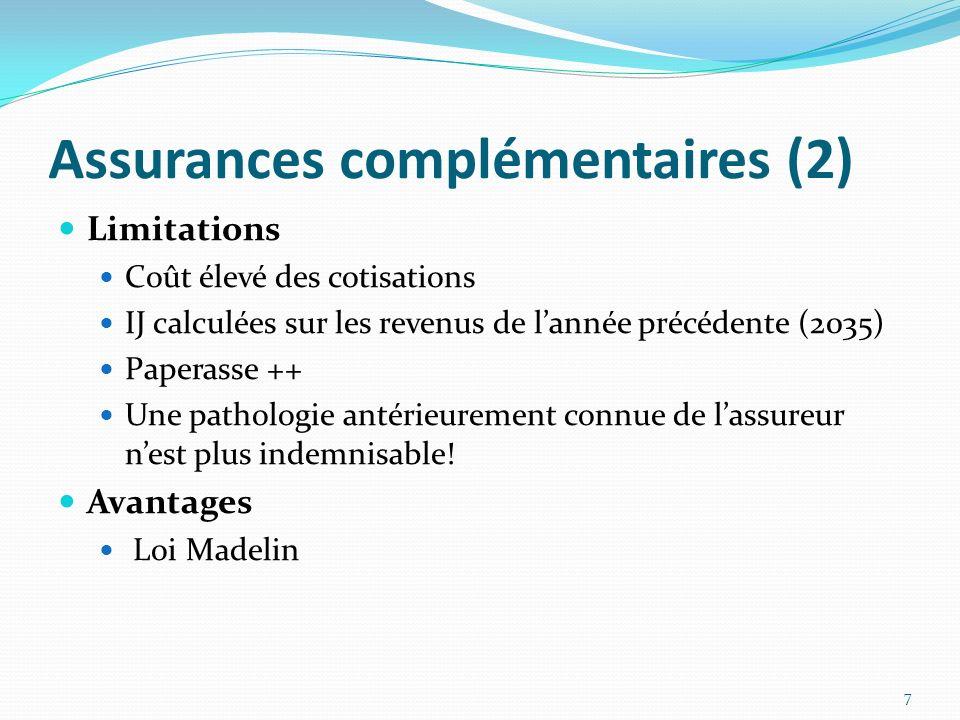 Assurances complémentaires (2)