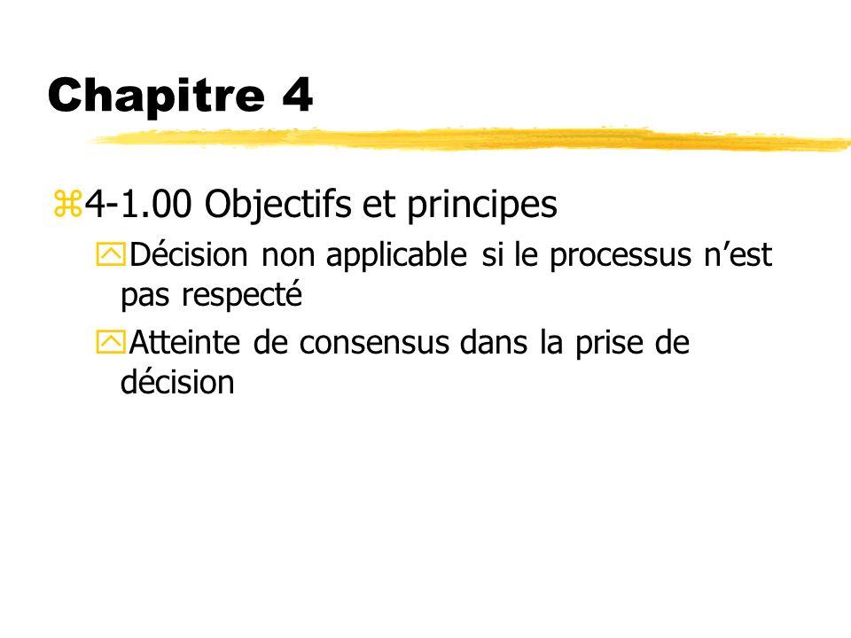 Chapitre 4 4-1.00 Objectifs et principes