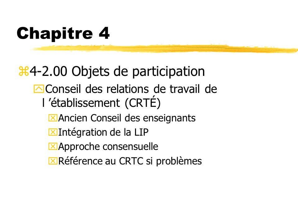 Chapitre 4 4-2.00 Objets de participation