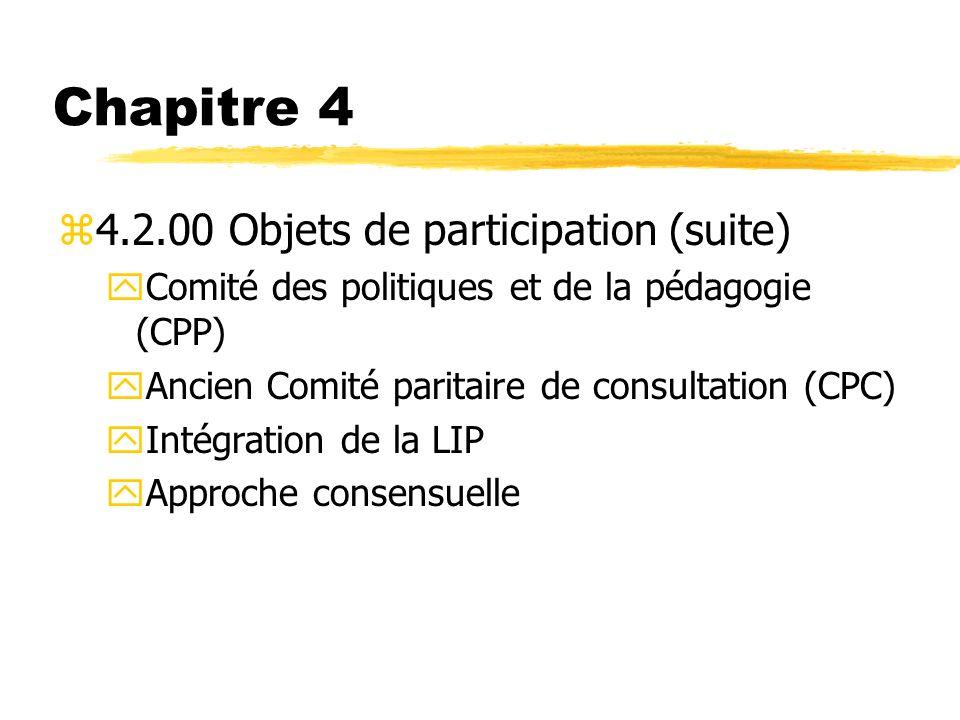 Chapitre 4 4.2.00 Objets de participation (suite)