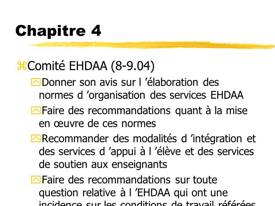 Chapitre 4 Comité EHDAA (8-9.04)