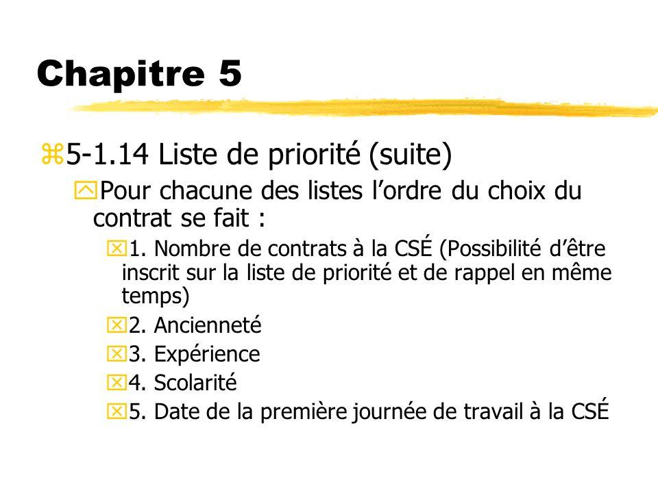 Chapitre 5 5-1.14 Liste de priorité (suite)