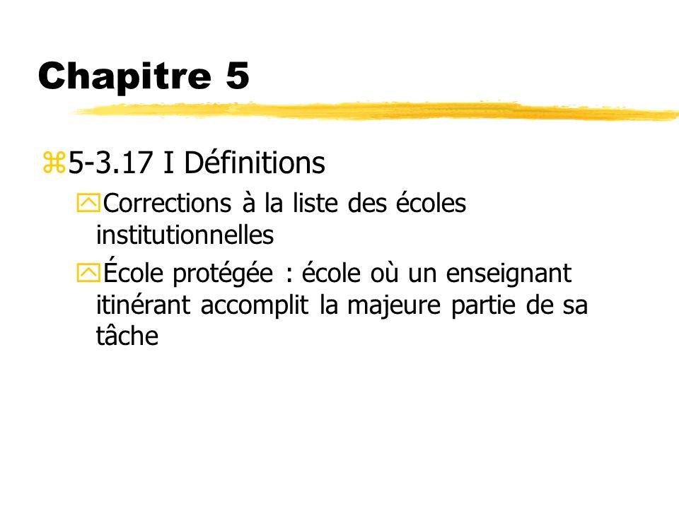 Chapitre 5 5-3.17 I Définitions