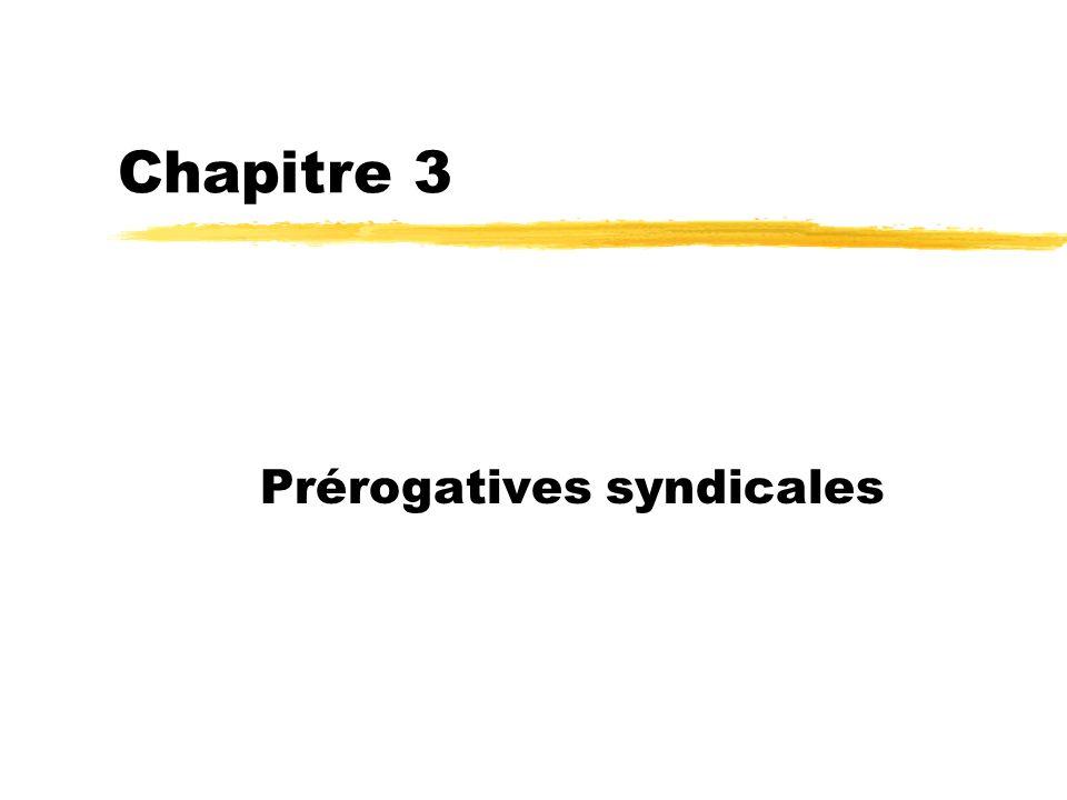 Prérogatives syndicales