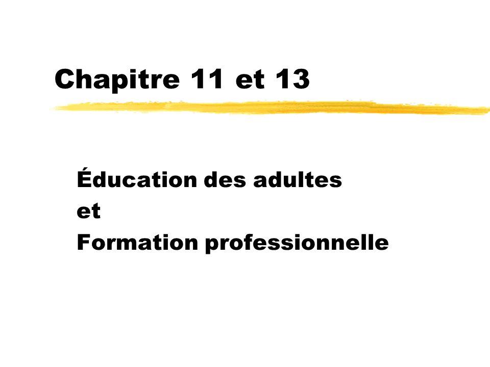 Éducation des adultes et Formation professionnelle