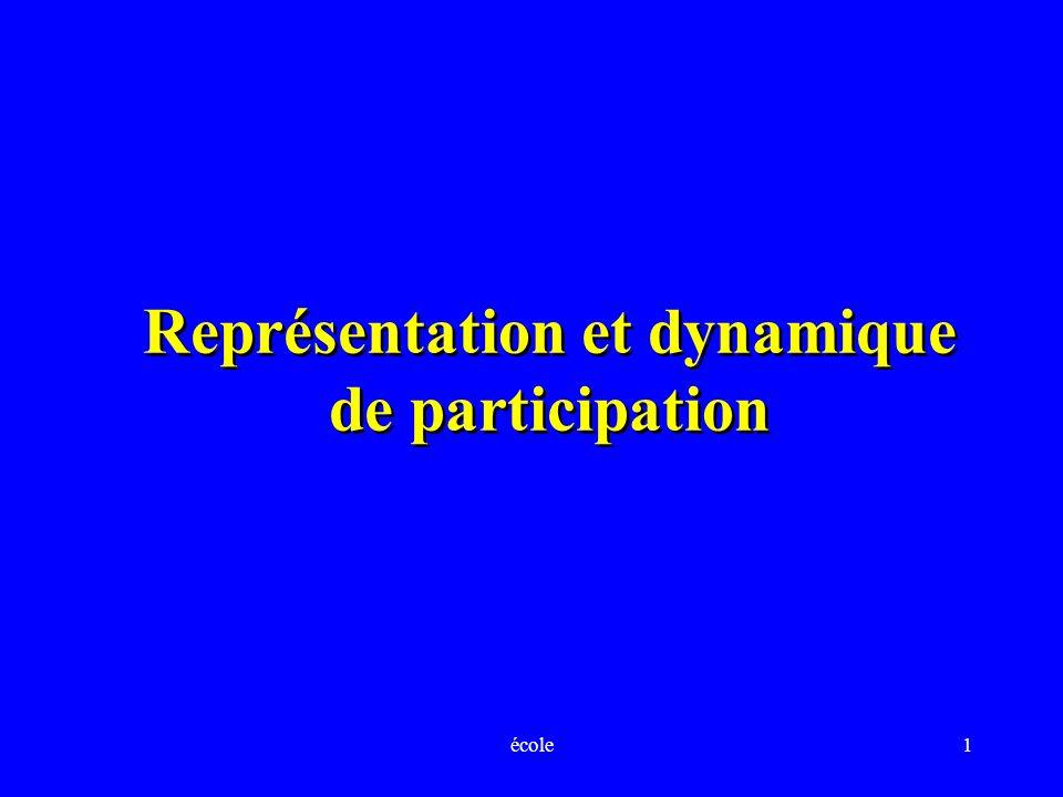 Représentation et dynamique de participation
