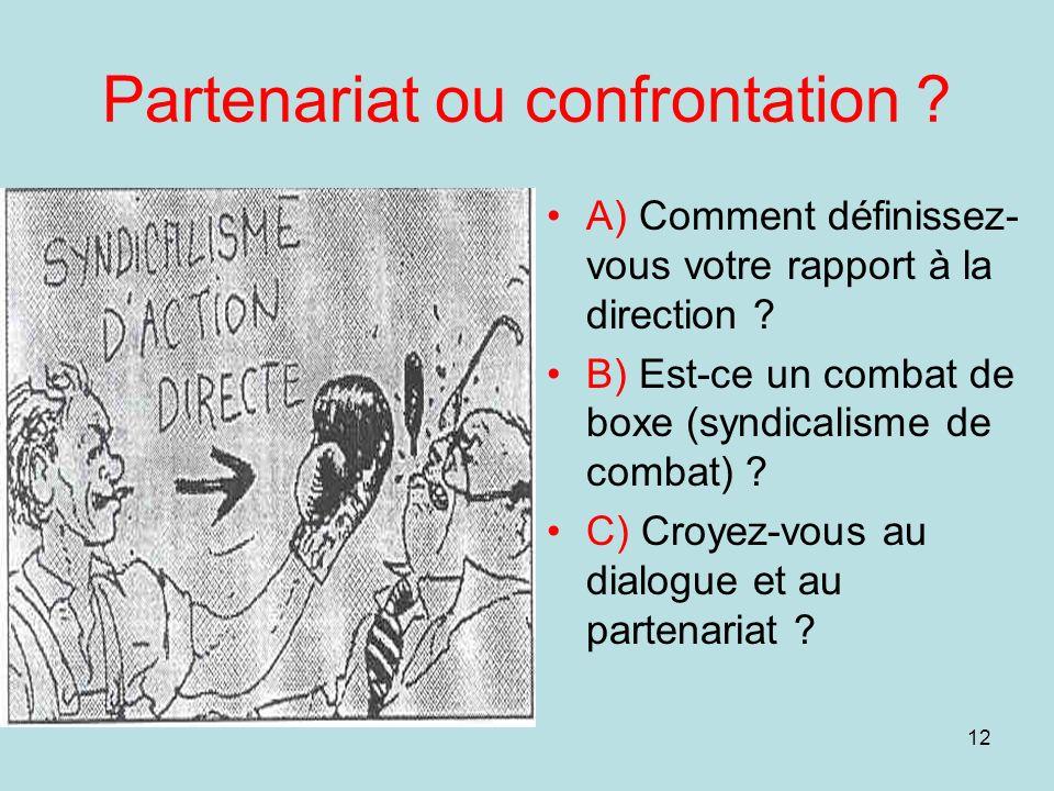 Partenariat ou confrontation