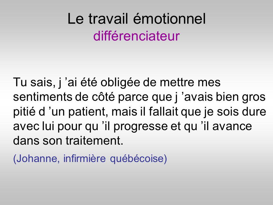 Le travail émotionnel différenciateur