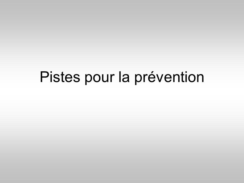 Pistes pour la prévention