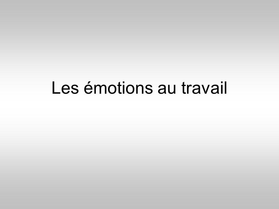 Les émotions au travail