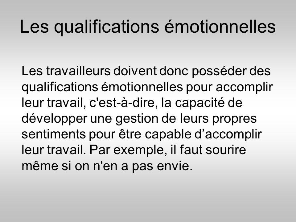 Les qualifications émotionnelles