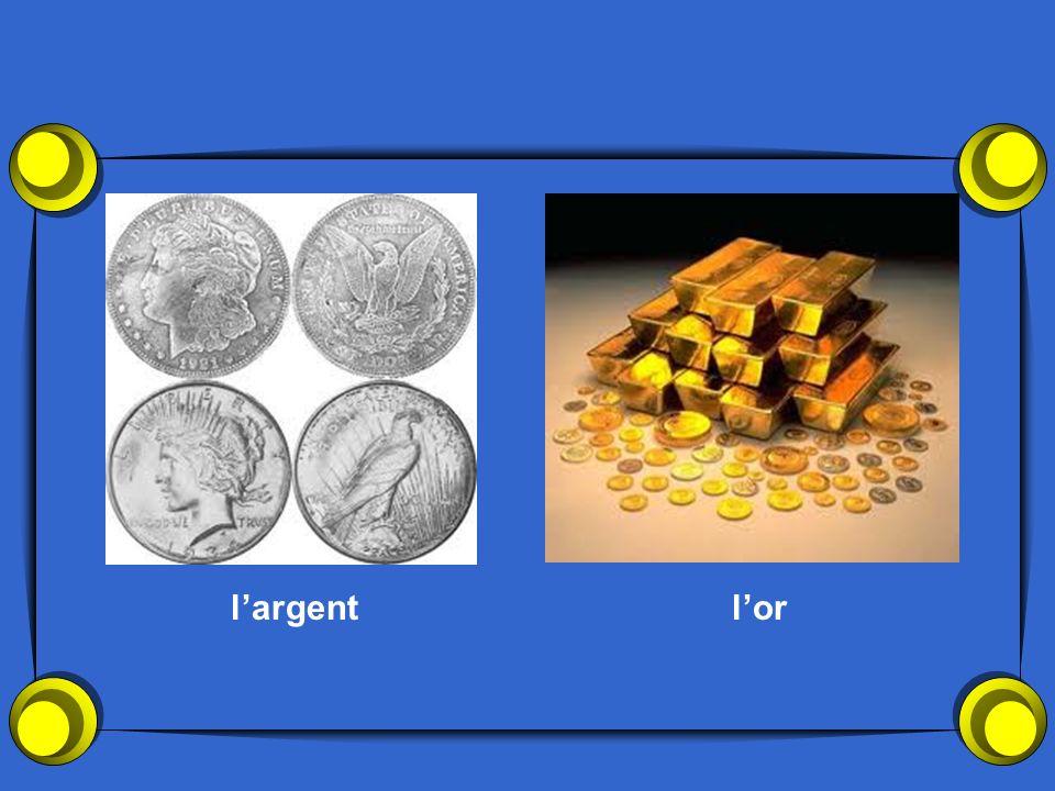 l'argent l'or