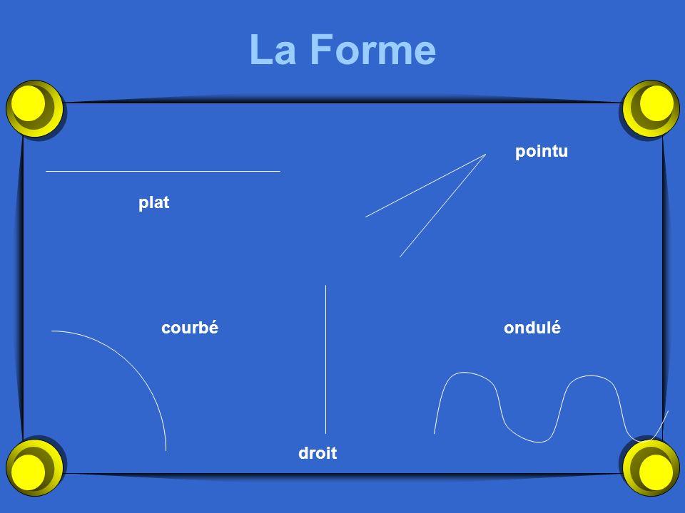 La Forme pointu plat courbé ondulé droit