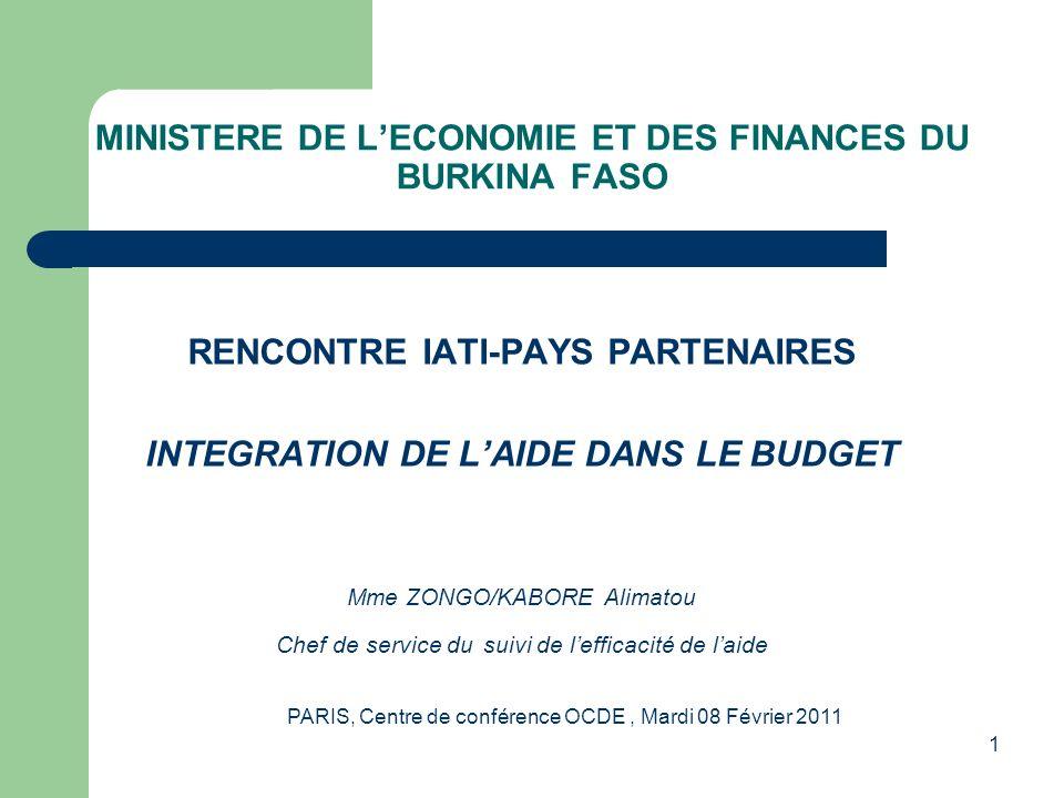 MINISTERE DE L'ECONOMIE ET DES FINANCES DU BURKINA FASO
