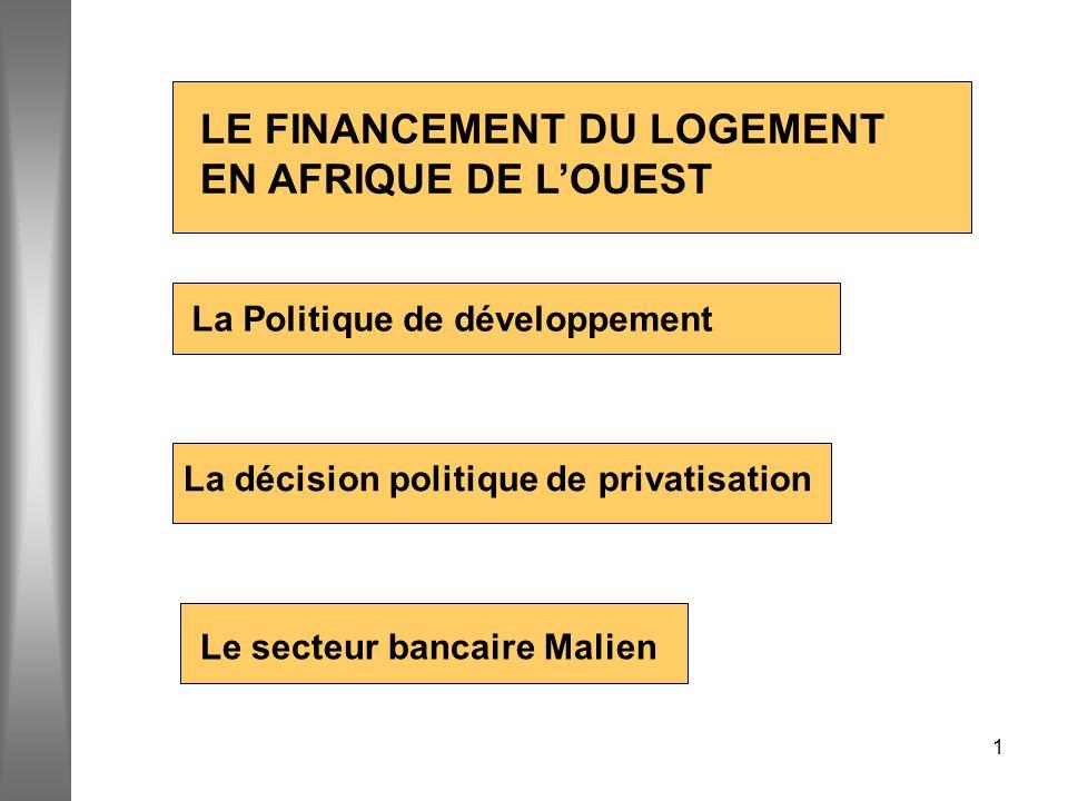 LE FINANCEMENT DU LOGEMENT EN AFRIQUE DE L'OUEST