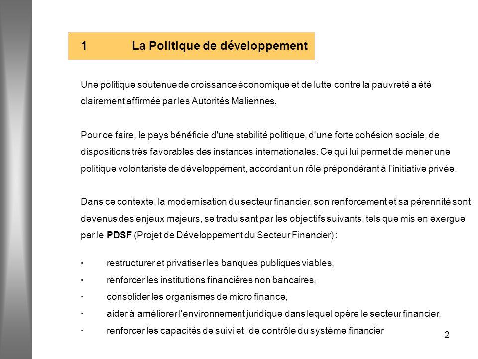 1 La Politique de développement
