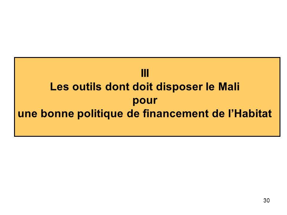 Les outils dont doit disposer le Mali pour