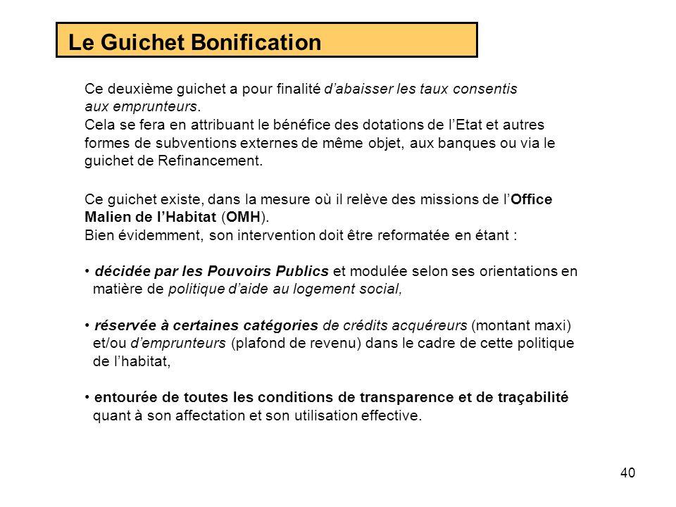 Le Guichet Bonification