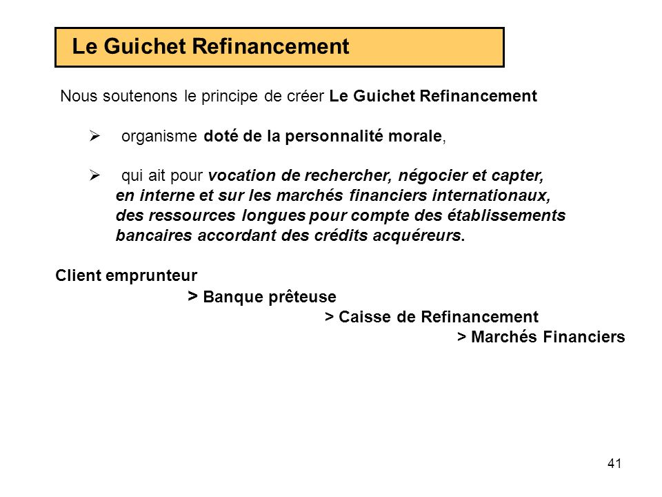 Le Guichet Refinancement