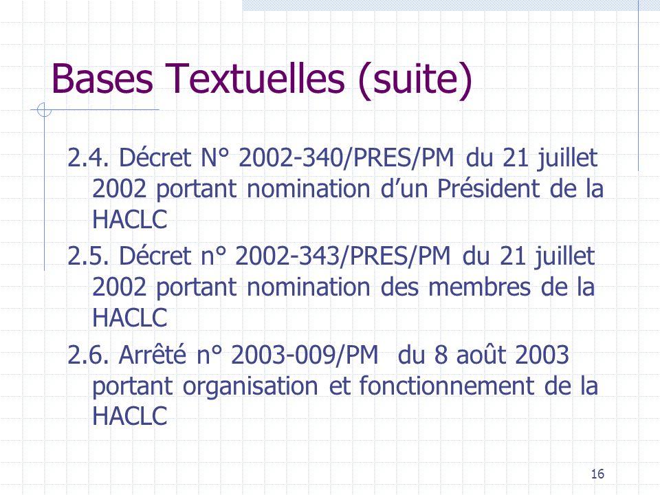 Bases Textuelles (suite)