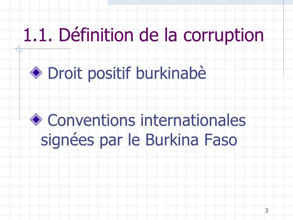 1.1. Définition de la corruption