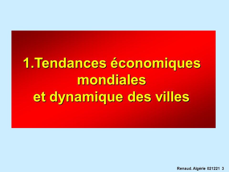 Tendances économiques et dynamique des villes