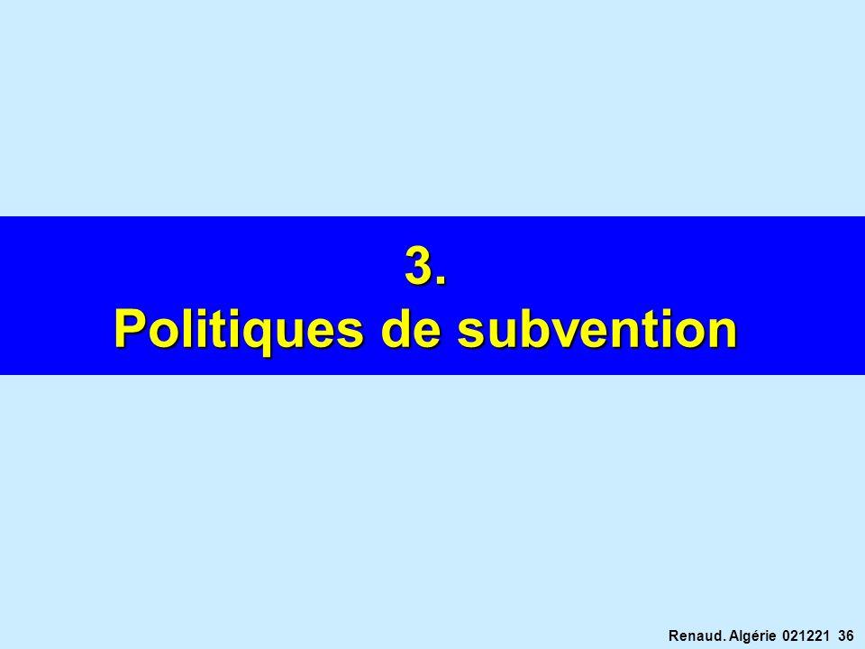 Politiques de subvention