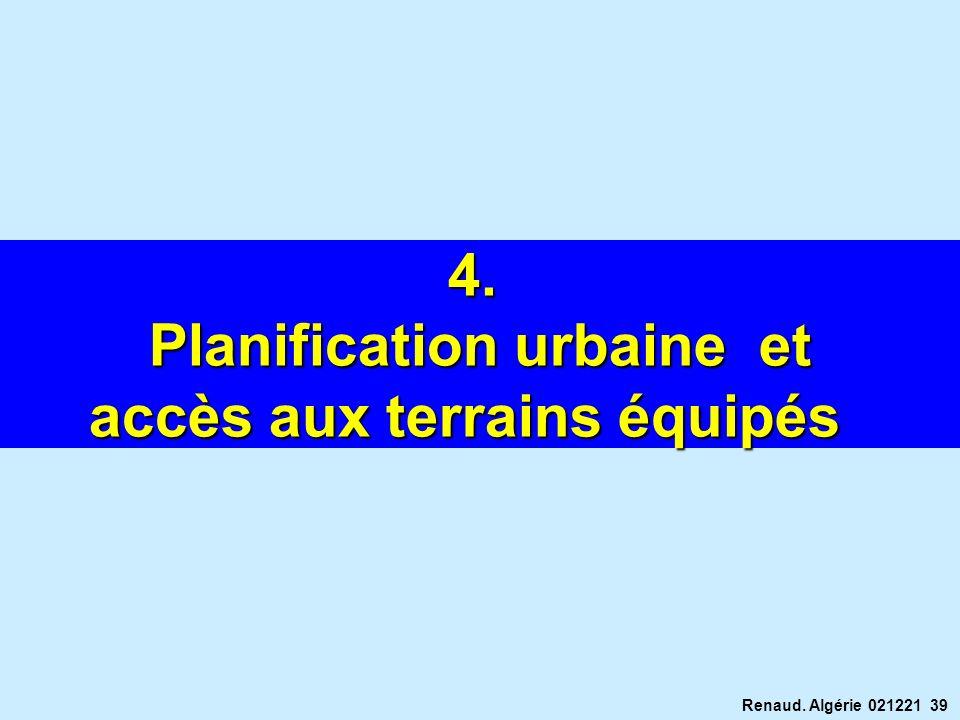 Planification urbaine et accès aux terrains équipés