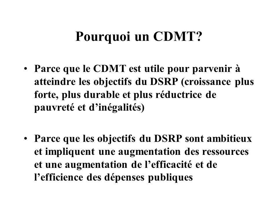 Pourquoi un CDMT