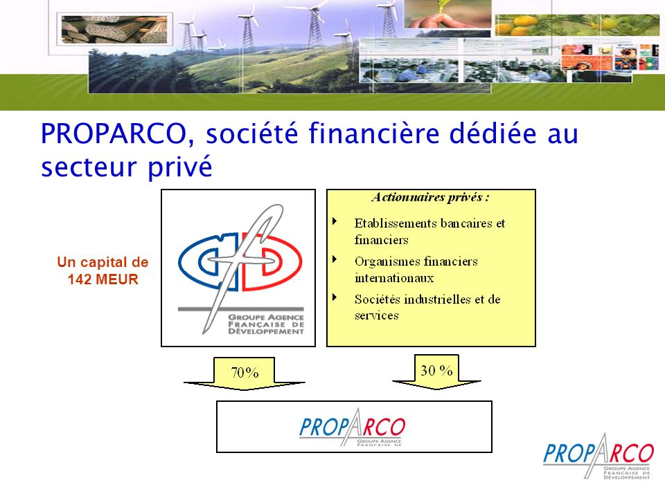 PROPARCO, société financière dédiée au secteur privé