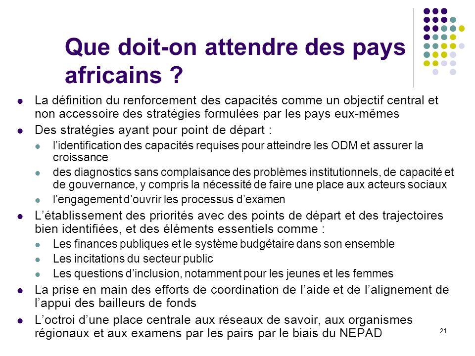 Que doit-on attendre des pays africains