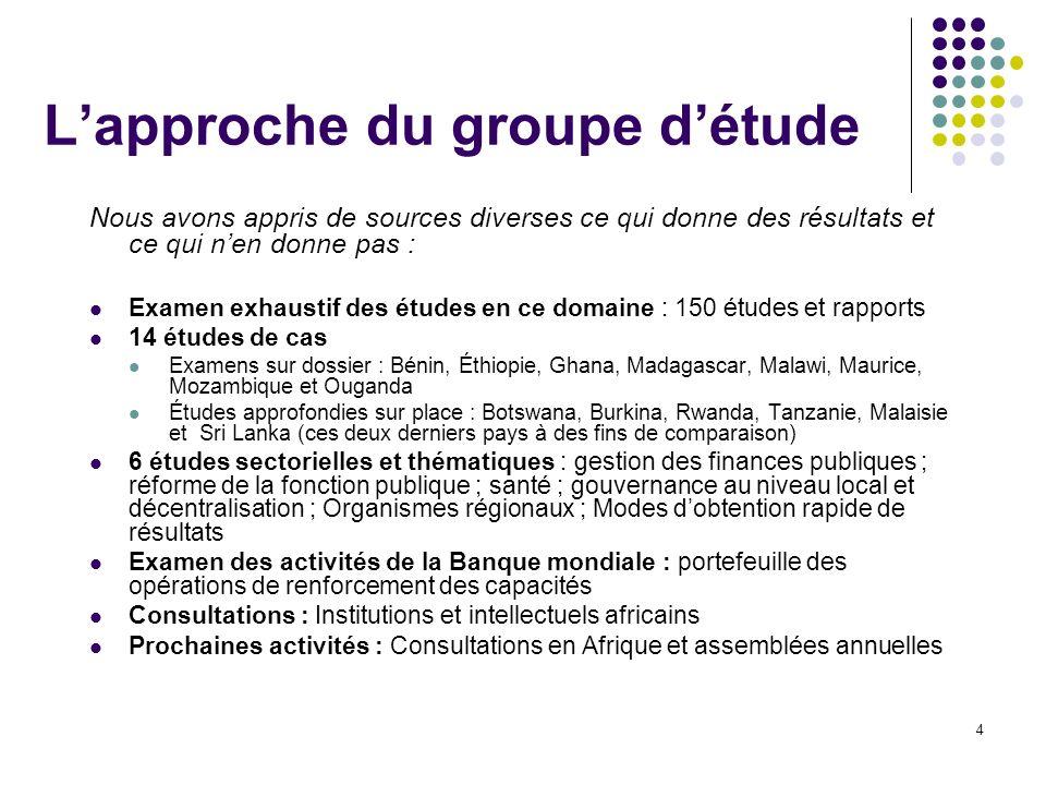 L'approche du groupe d'étude