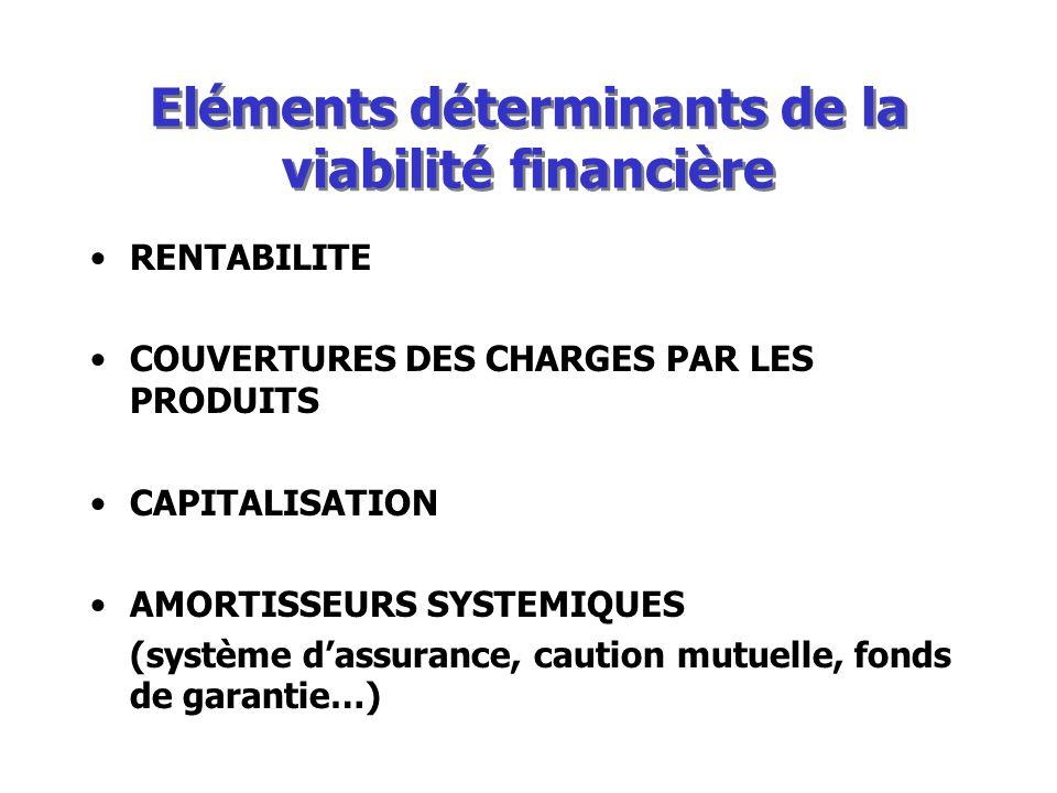 Eléments déterminants de la viabilité financière