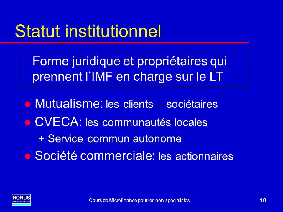 Statut institutionnel