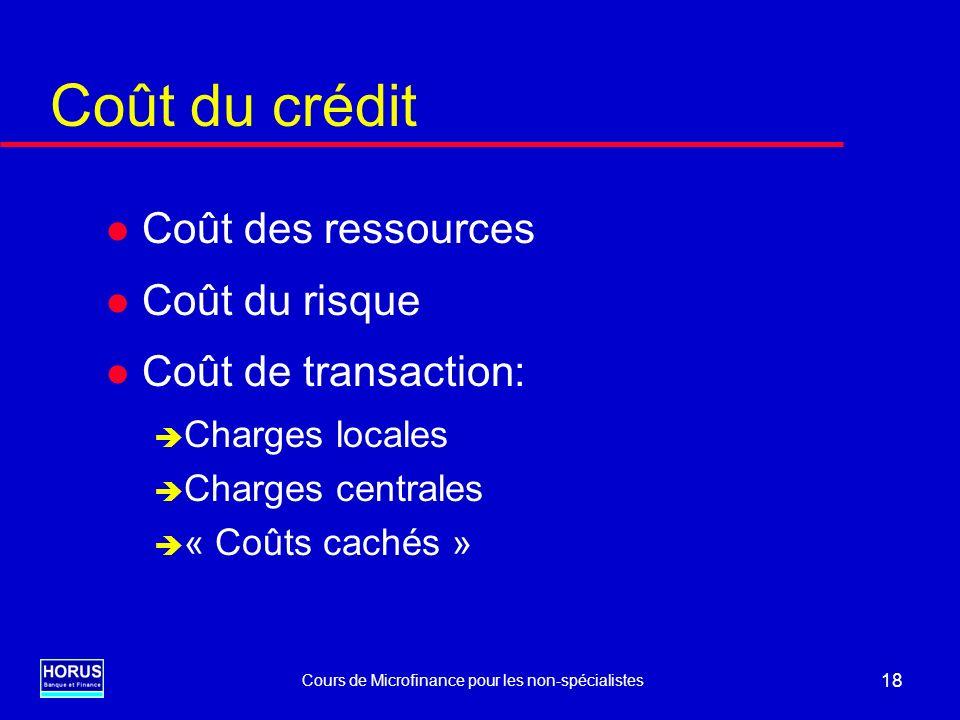Cours de Microfinance pour les non-spécialistes - WBI - CEFEB - AFD