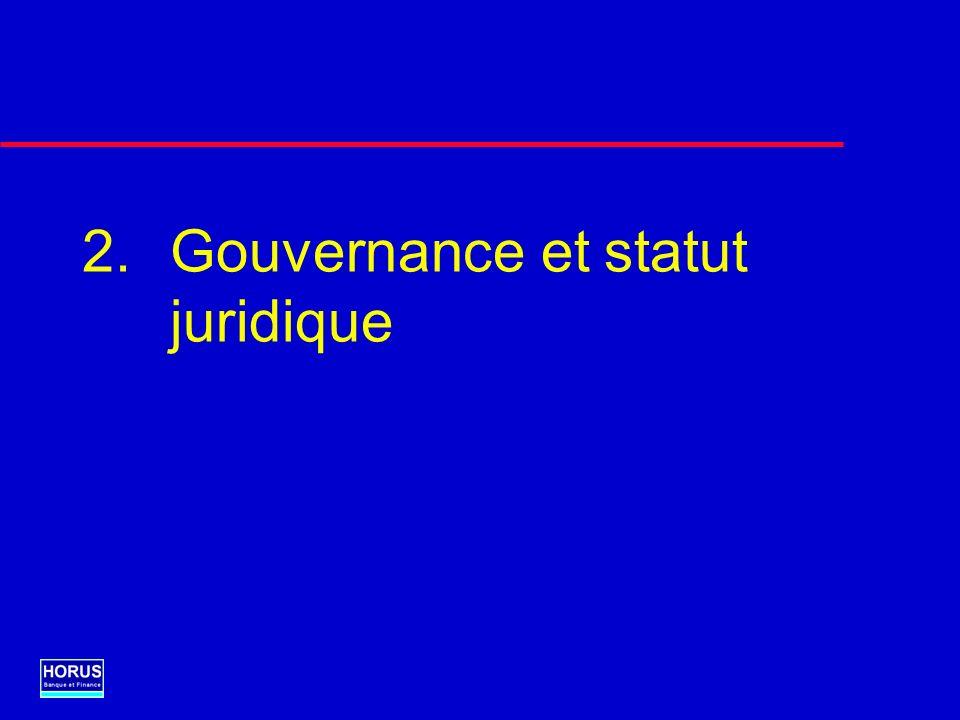 Gouvernance et statut juridique