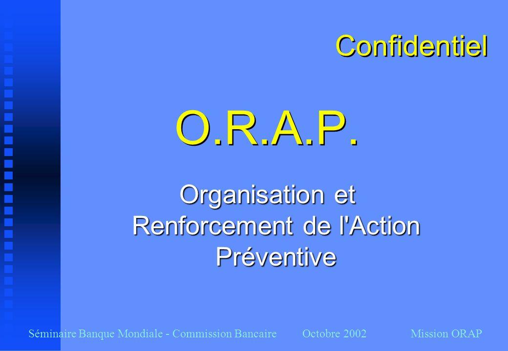 Organisation et Renforcement de l Action Préventive