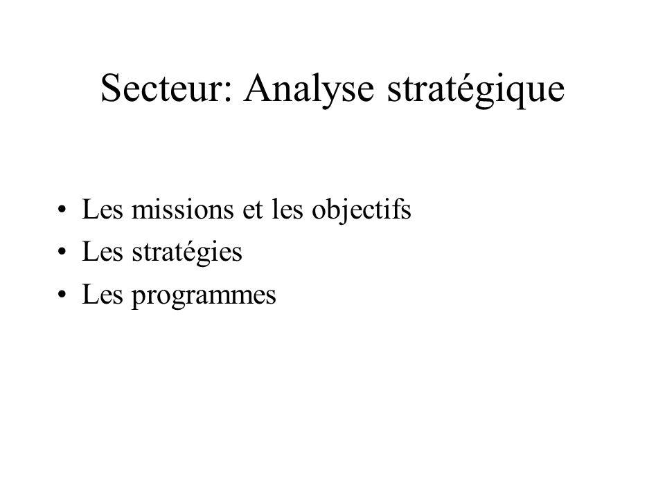 Secteur: Analyse stratégique