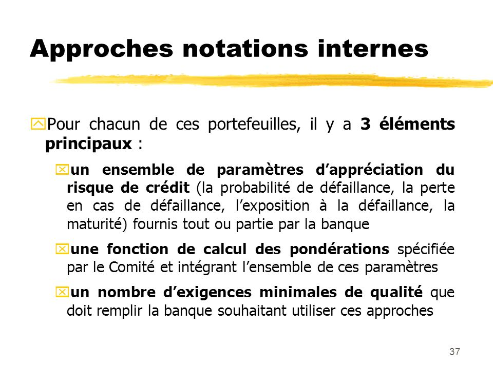 Approches notations internes