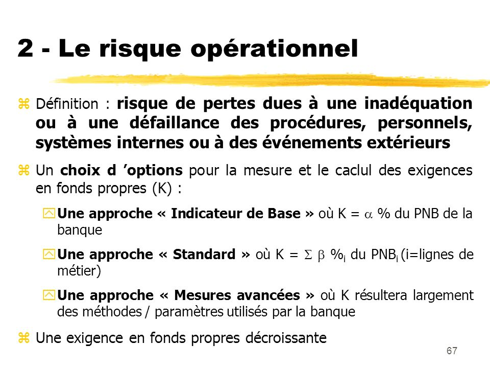 2 - Le risque opérationnel