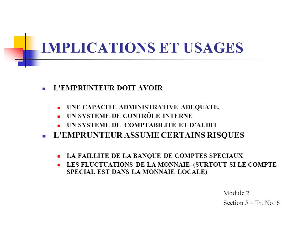 IMPLICATIONS ET USAGES