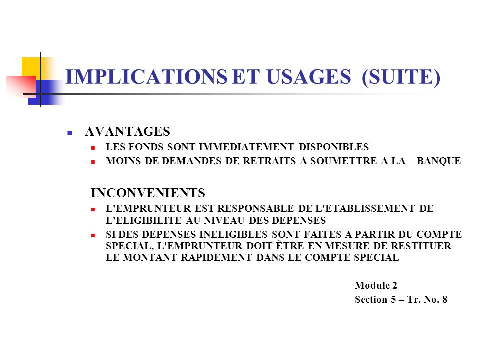 IMPLICATIONS ET USAGES (SUITE)